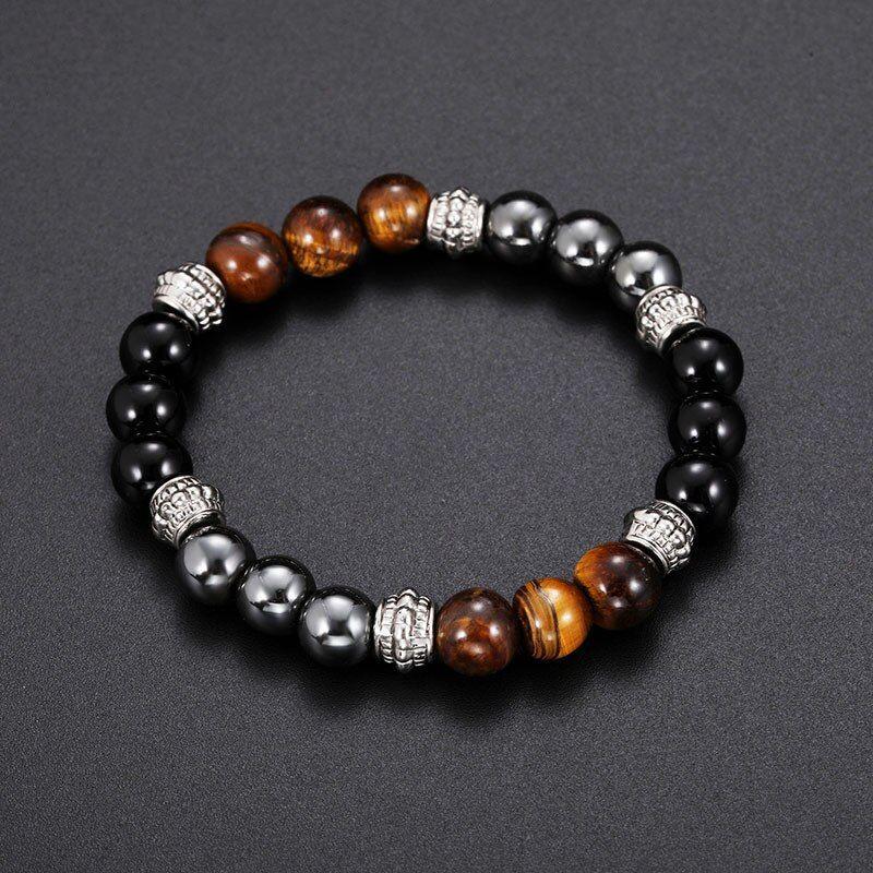 Collect Pretty Tibetan Agate Carved Pretty Buddha Beads Bracelet Fashion Jewelry