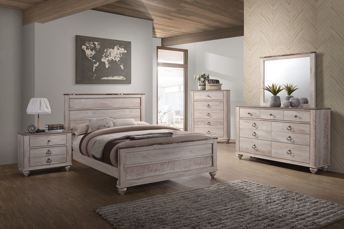 If you love the antiqued, white wash rustic look, the