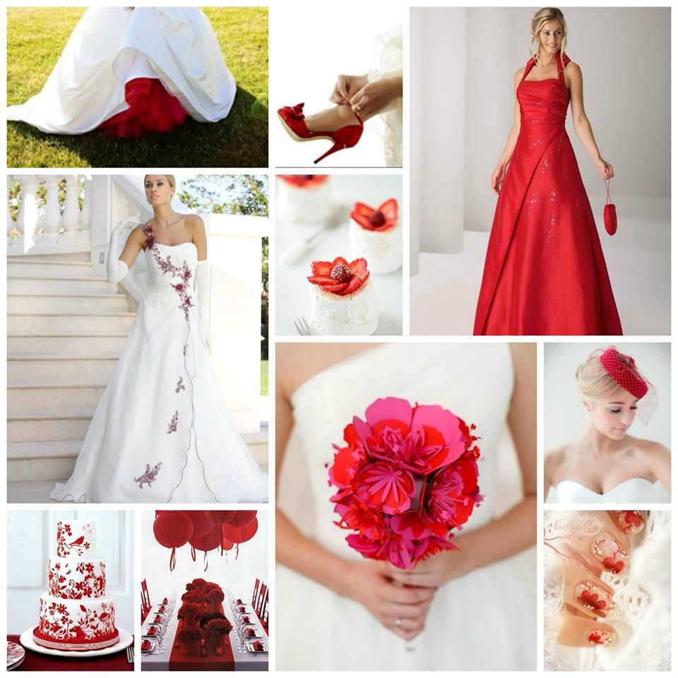 Red wedding with Ladybird dress www.ladybird.nl | Wedding Themes ...