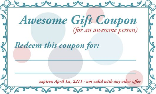 FreePrintableGiftCouponTemplate  Birthday Coupon