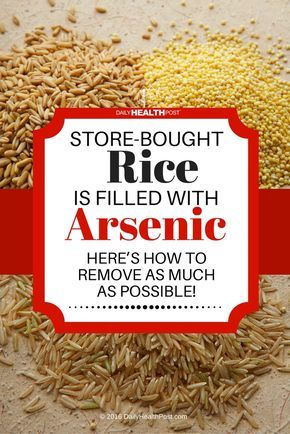 Store-Bought Rice is Filled With Arsenic…Here's How to Remove as Much as Possible! via @dailyhealthpost