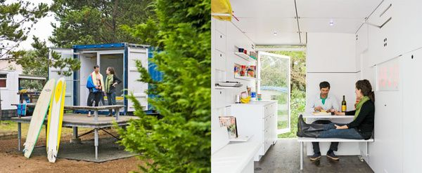 Hartman Kable designed the Surfshack to include loads of built-in