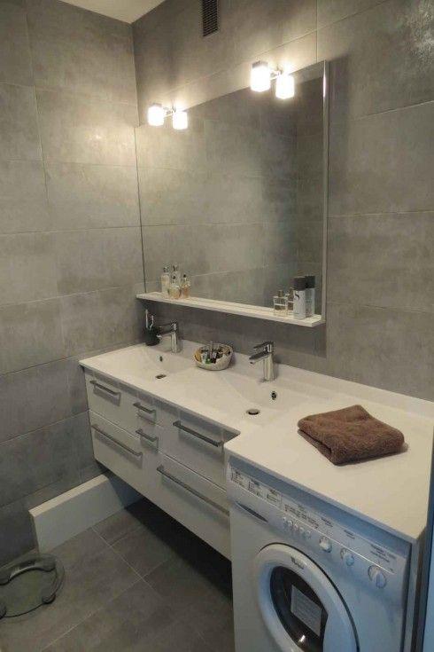 Lave linge sous meuble de salle de bain machine - Meuble machine a laver encastrable ...