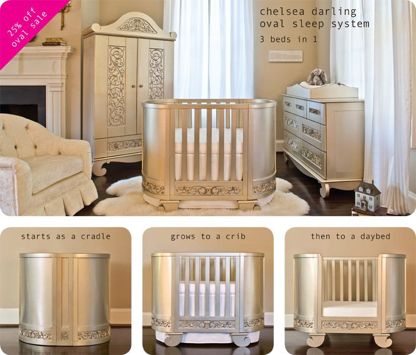 Chelsea Darling In Silver Baby Crib