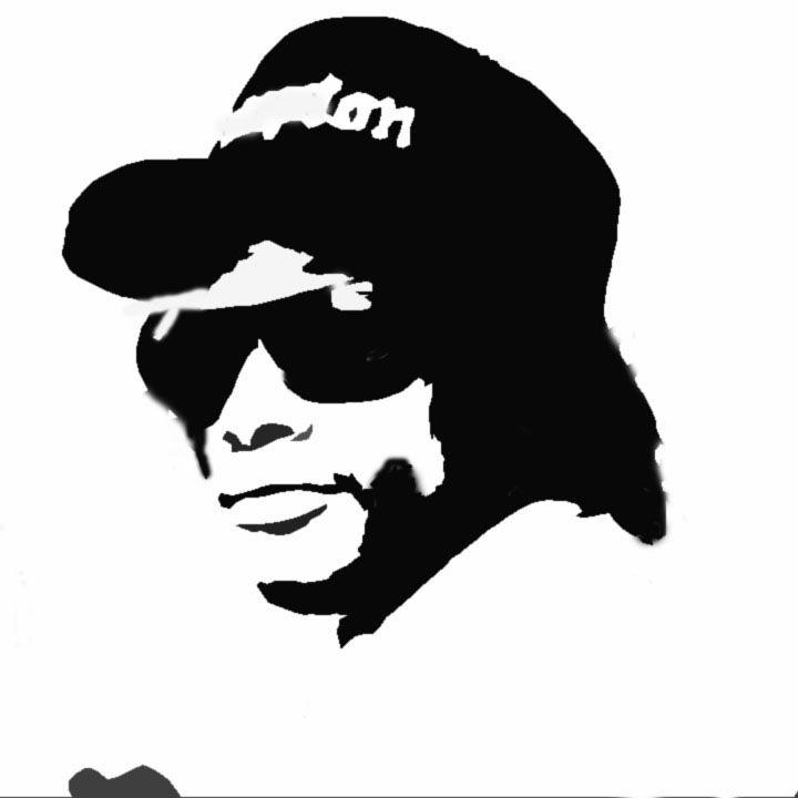 Eazy E Stencil Art Superhero Wall Art Graff Art