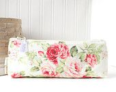 Red and Pink Roses Pencil Case Spring Floral Pencil Case Cute Zipper Bag