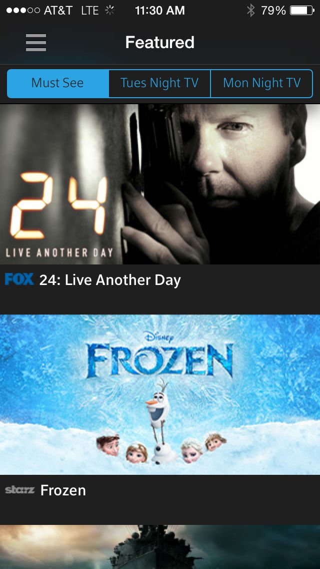 XFINITY TV Go Featured Disney frozen, Night live, Tvs