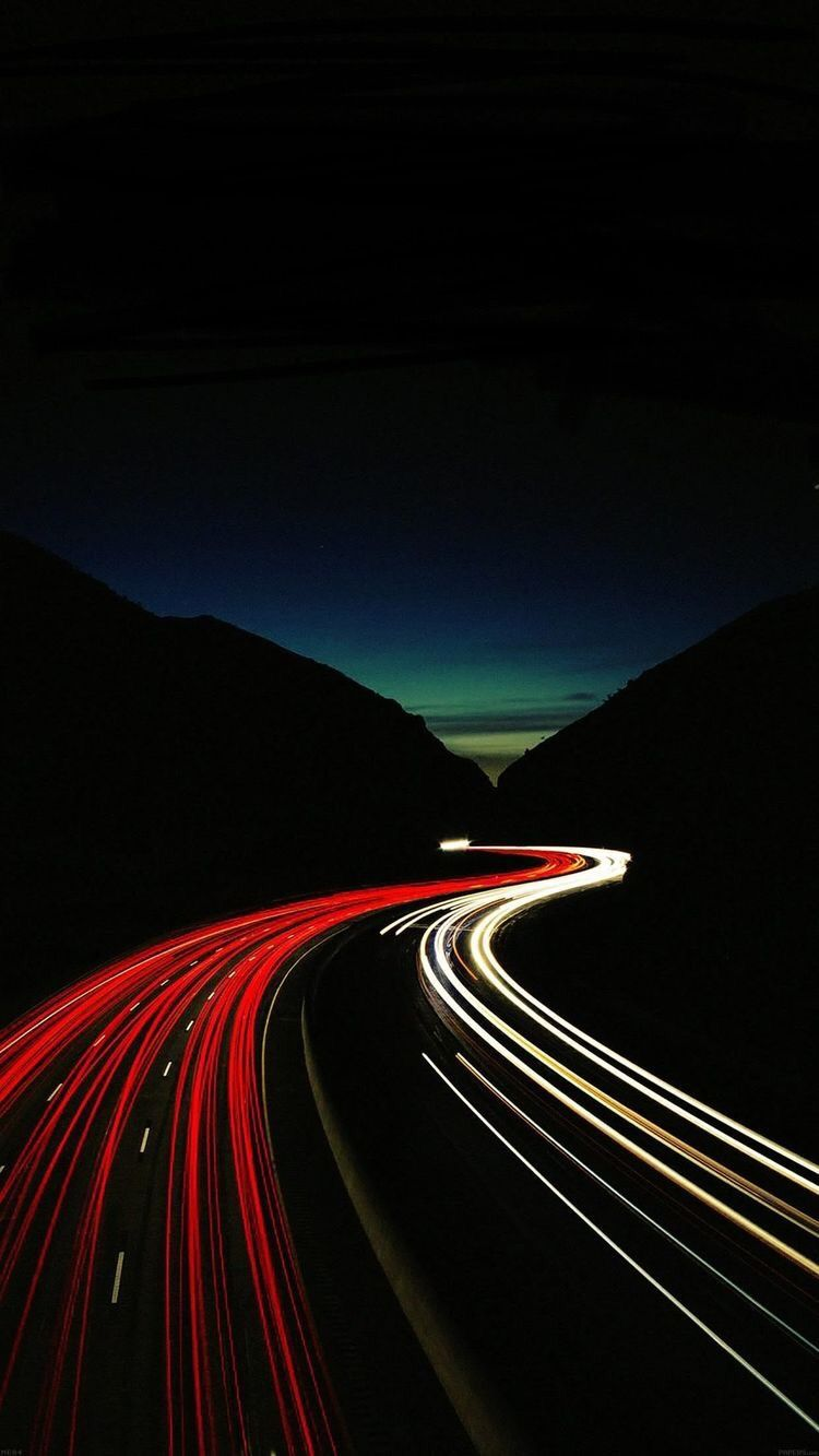 Night Highway Wallpaper Light Trail Photography Cool Wallpapers