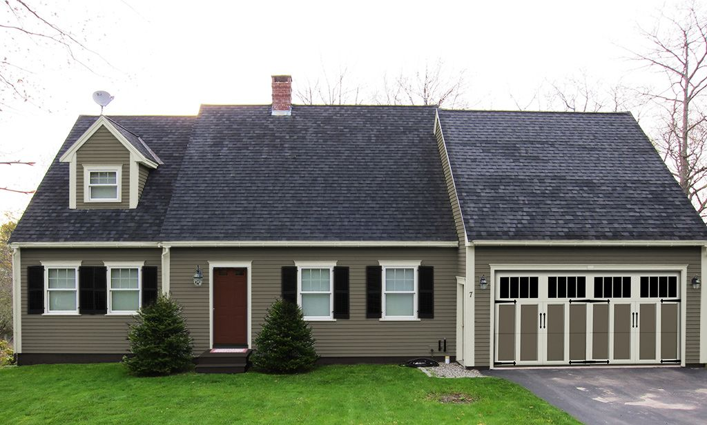 Paint colors shutters carriage house garage door and removal of storm door greatly improve - Installing carriage style garage doors improve exterior ...