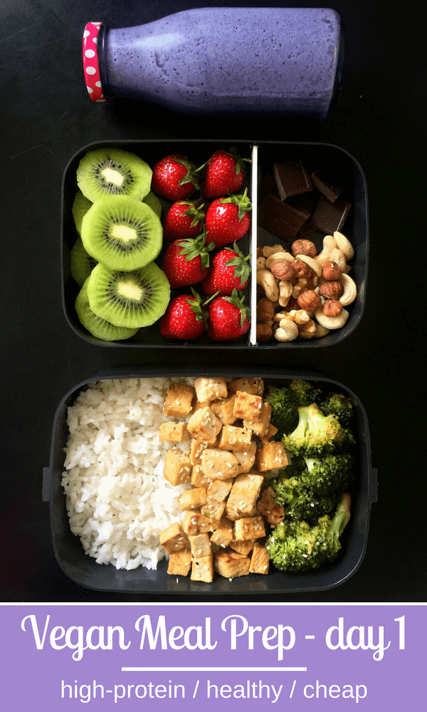 5-Day High-Protein Vegan Meal Prep for Weight Loss #weeklymealprep