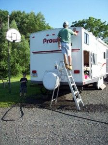 If You Own A Camper Take The Time To Clean The Outside Don T Let The Soap Dry My Honey I Do It Together He W Travel Trailer Camping Camping Camper