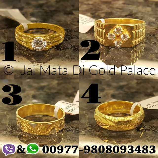 Jai Mata Di Gold Palace Special Gents Ornaments Feature Name Gents Ring Code 678 Weight Gram 1 5 85 Bridal Gold Jewellery Gold Jewelry Simple Gents Ring