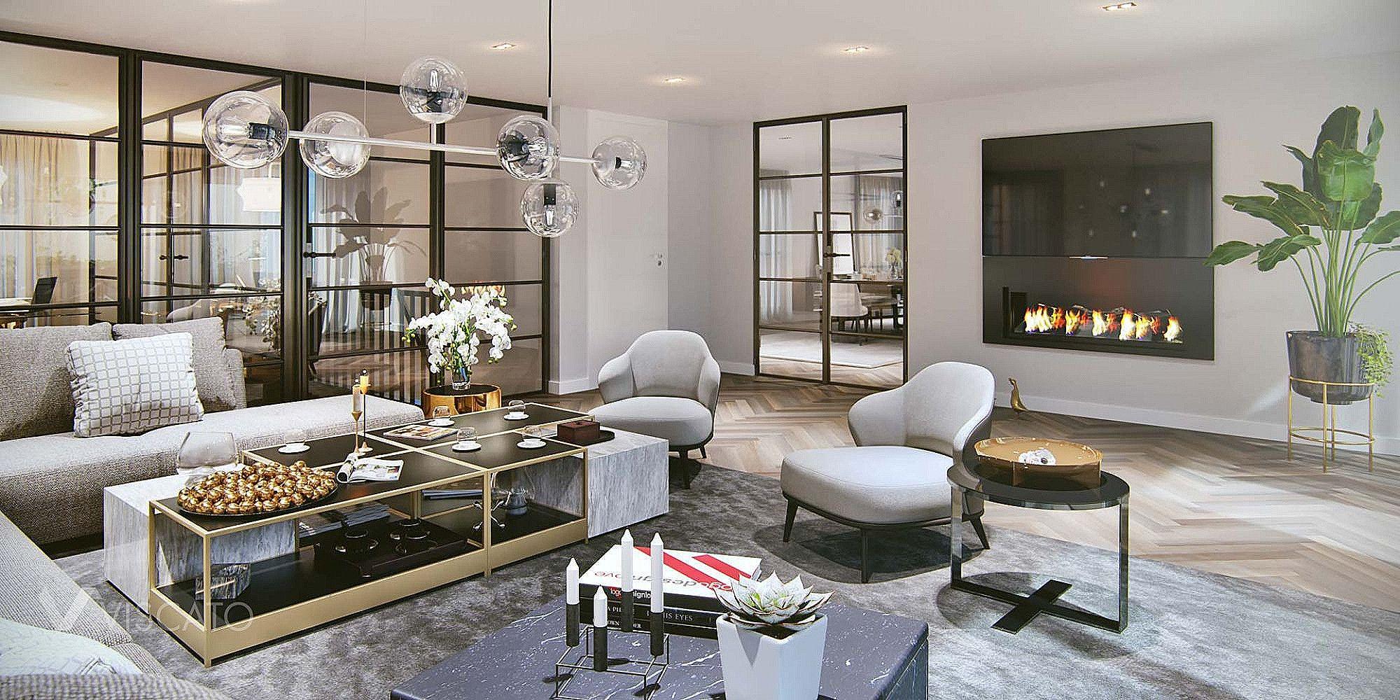 Luxury Big Living Room Interior Design Ideas - #bighouseliving