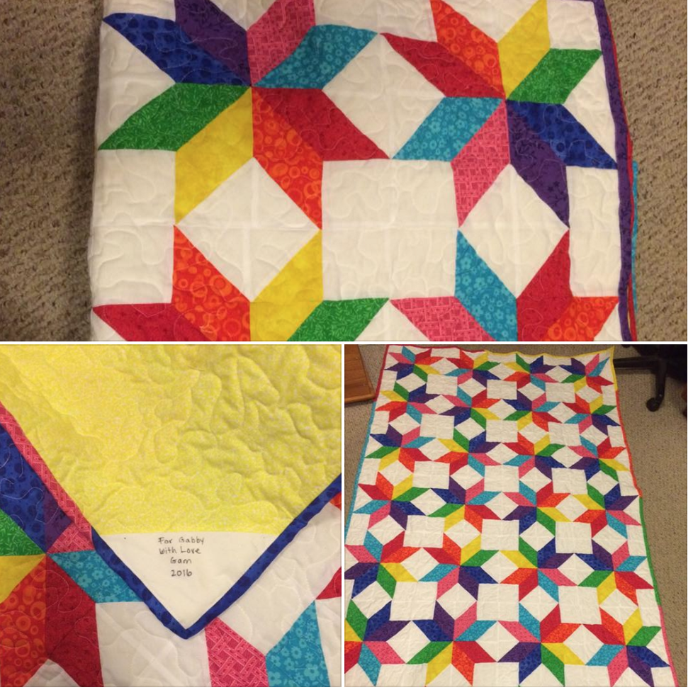 When Grandma finishes a quilt...It's a great feeling! #accuquilt #cuttimequiltmore #quilting
