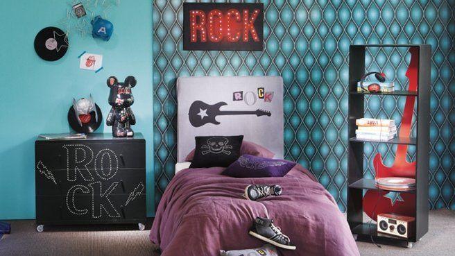 deco chambre garcon rock
