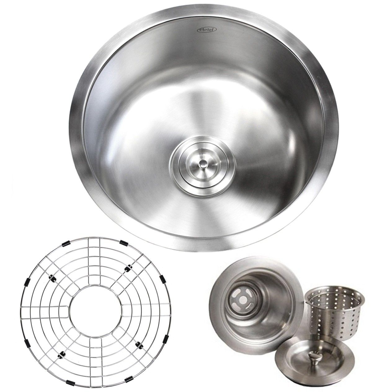 17 Inch Stainless Steel Undermount Single Bowl Kitchen Bar Prep Sink Round 16 Gauge Free Accessories Stainless Steel Undermount Prep Sink Sink