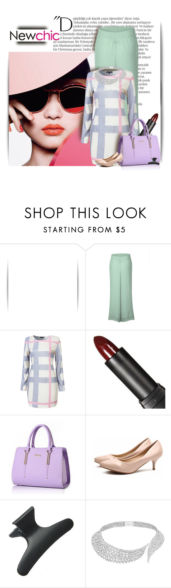 """""""#newchic contest"""" by lurve-music ❤ liked on Polyvore featuring Balmain, Messika, chic, New and newchic"""