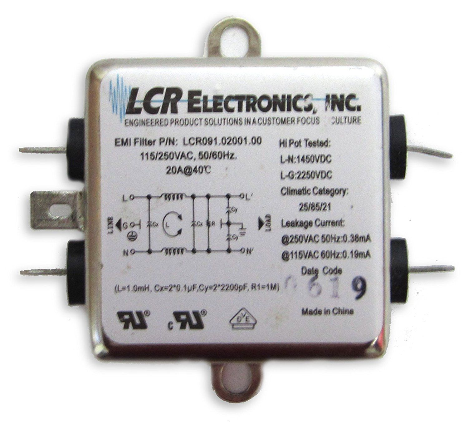 Lcr Electronics Emi Rfi Filters Emifilters Rfifilters Pin Diode Rf Switch Circuit Radioelectronicscom