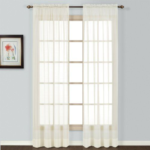 United Curtain Batiste Semi Sheer Window Curtain Panel 54 By 72
