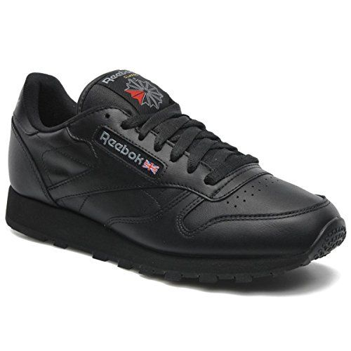 2fe5bc215 Reebok Classic Leather Black Black Mens Trainers Size 10 UK