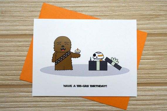 This is a chewbacca and bb 8 inspired birthday card and is a great this is a chewbacca and bb 8 inspired birthday card and is a great card bookmarktalkfo Choice Image