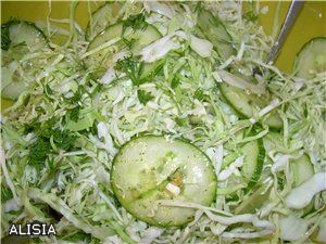 салат летний из капусты