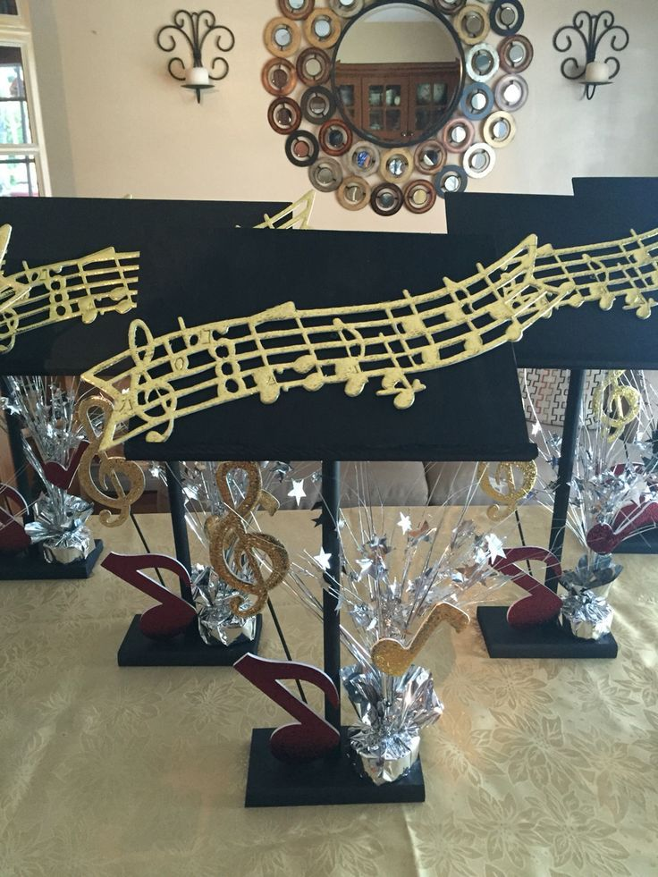Music Themed Party Decorations Ideas Part - 20: Music Centerpieces More