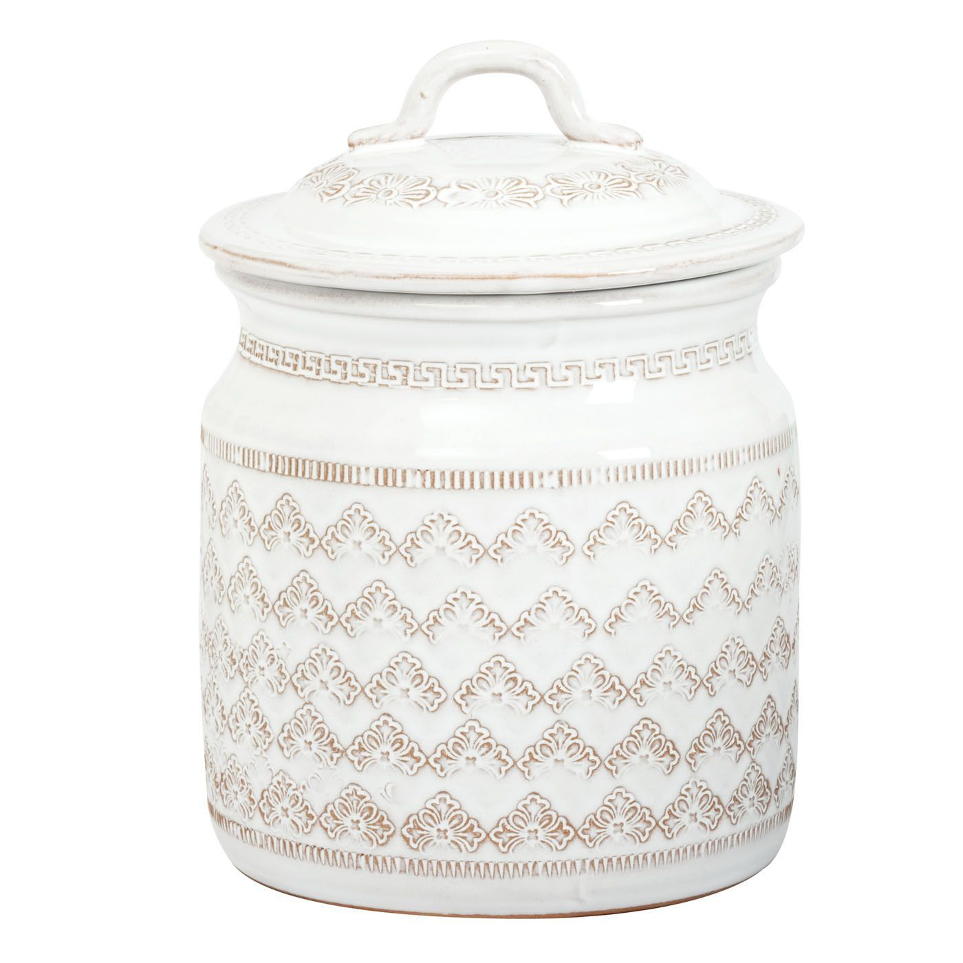 Vietri Bellezza White Large Canister