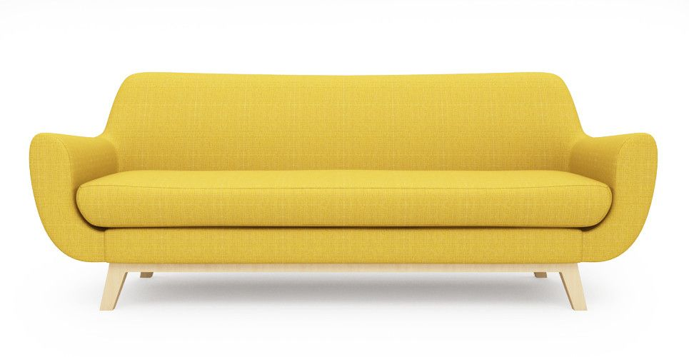 Brosa Furniture Filip 3 Seater Sofa Goldenrod Yellow 2 Seater Sofa Sofa 3 Seater Sofa