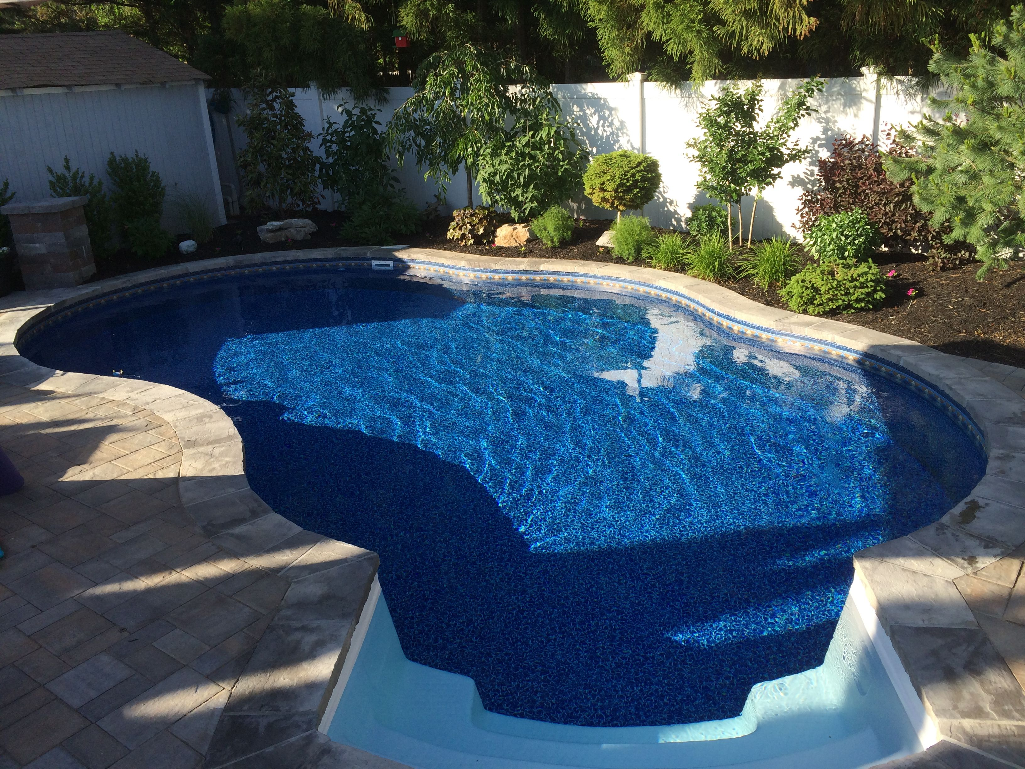 16x28 radiant freeform in ground pool radiant pools 2014 - Above ground pools for small backyards ...