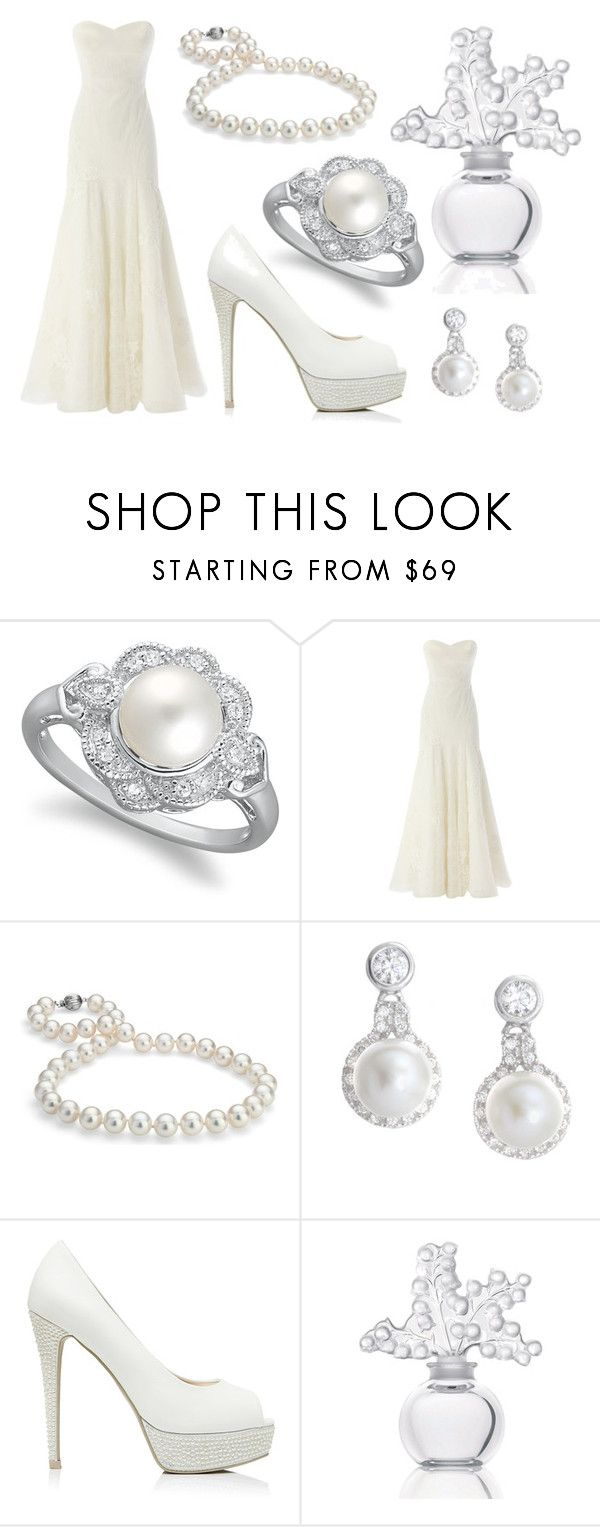 """Pearl Wedding"" by moppy-c-z ❤ liked on Polyvore featuring Coast, Blue Nile, Crislu, Forever New, Lalique and GetTheLook"