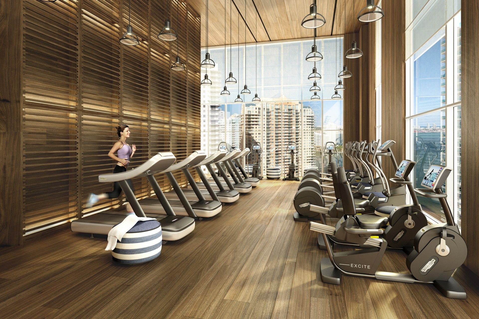 Brickellhouse Healthclub Rendering With Images Gym Interior