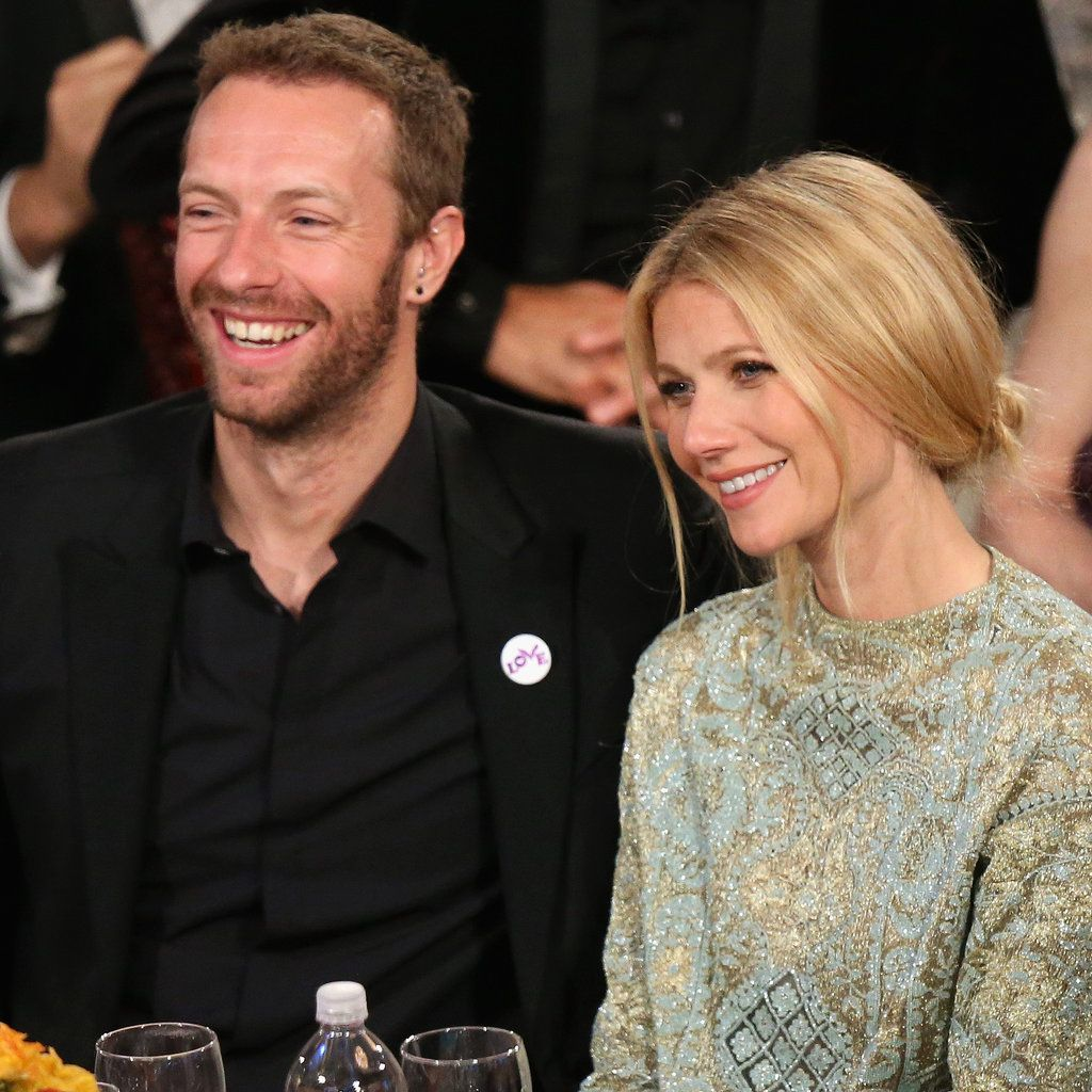 Gwyneth paltrow and chris martin make a sneaky globes stop hair