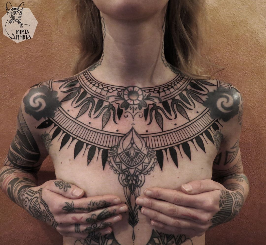 Only Made The Background On Her Chest Mirjafenris Tattoo