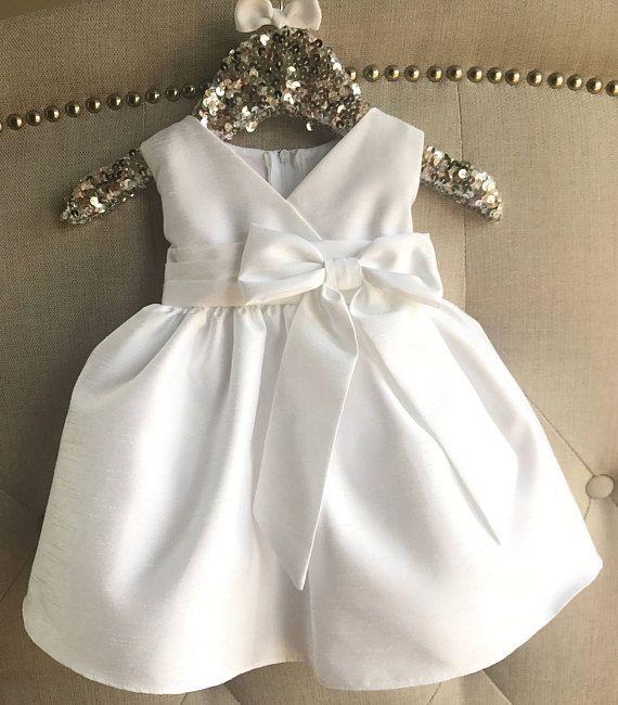 Baby Girl Christening Dress Baby White Baptism Dress ivory   vestido ...