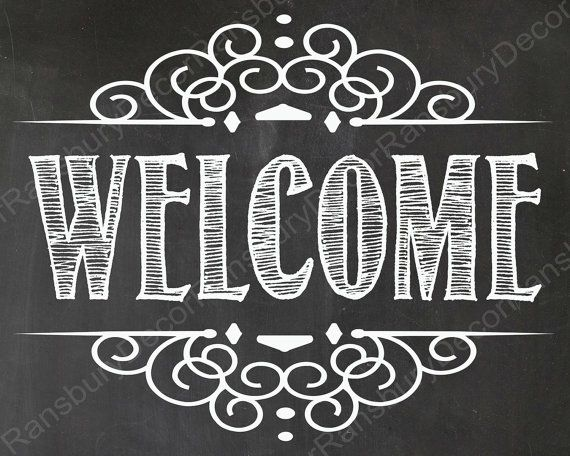 photo about Printable Welcome Sign referred to as Welcome Chalkboard Signal - Electronic Chalkboard Indication - Prompt