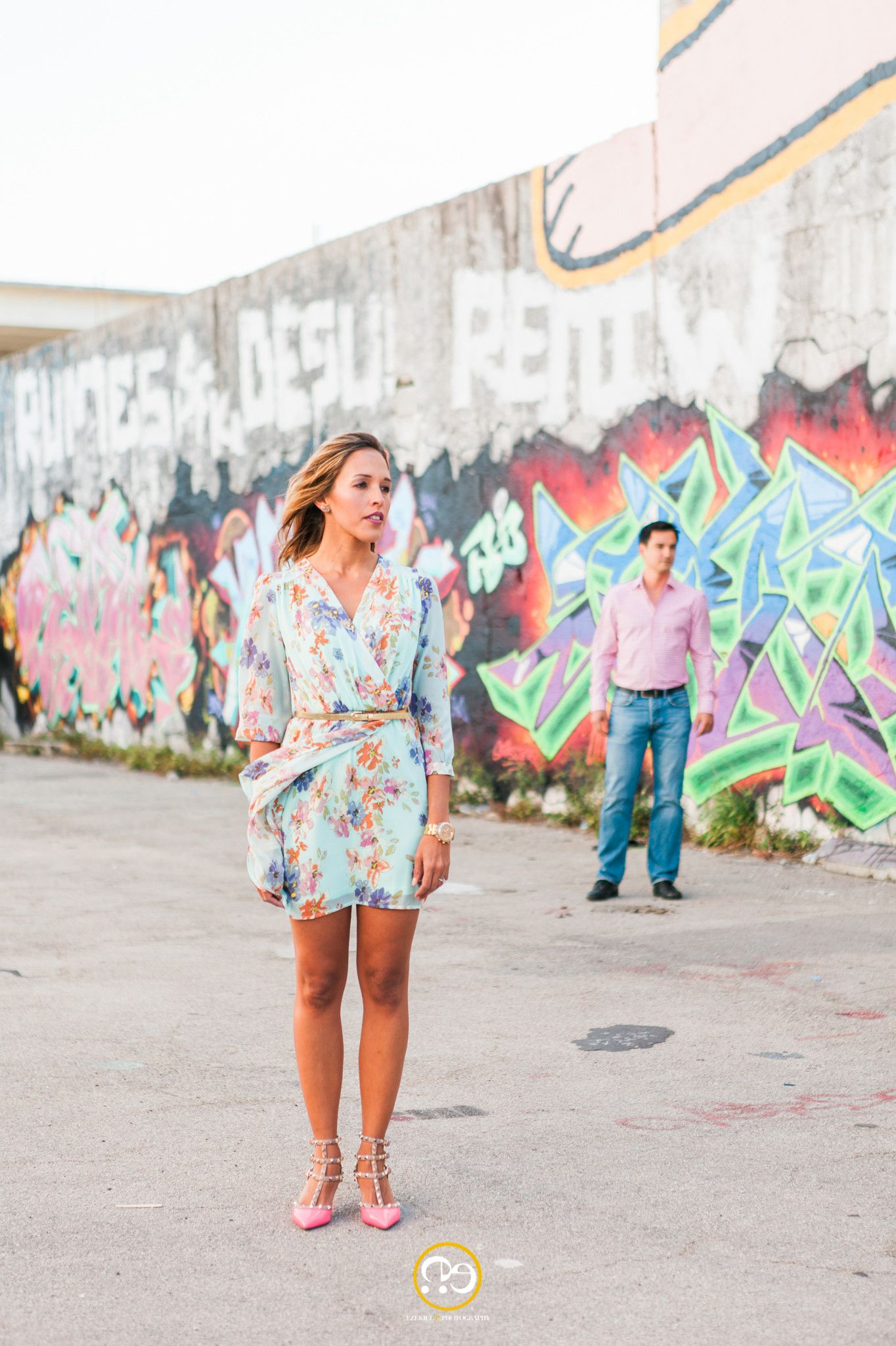 Walls of Wynwood - Engagement Photos Shoot in the Miami Art District by Award Winning Miami wedding Photographer #ezekiele
