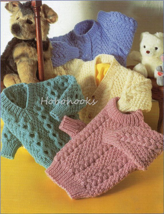 Baby / toddler / childrens aran cable cardigans and por Hobohooks ...