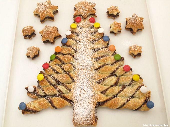 Arbol De Hojaldre Y Nutella Para Navidad Recetas Thermomix Misthermorecetas Recetas De Navidad Recetas Recetas Thermomix