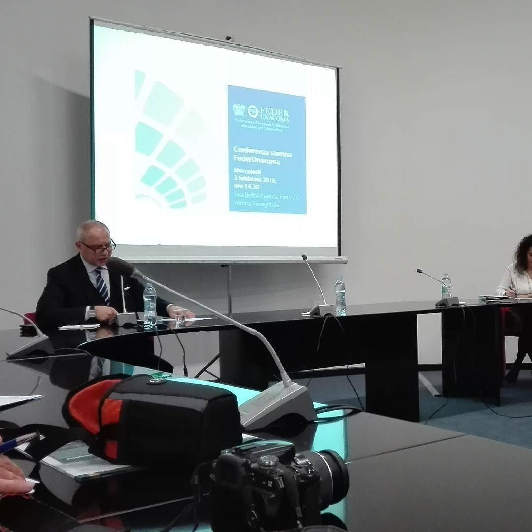 A #fieragricola la presentazione di #eimainternational alla conferenza stampa di #federunacoma