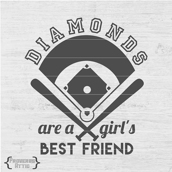 4181c92d9d675 BASEBALL DIAMONDS Girl's Best Friend Sports file for t-shirt/iron-on ...