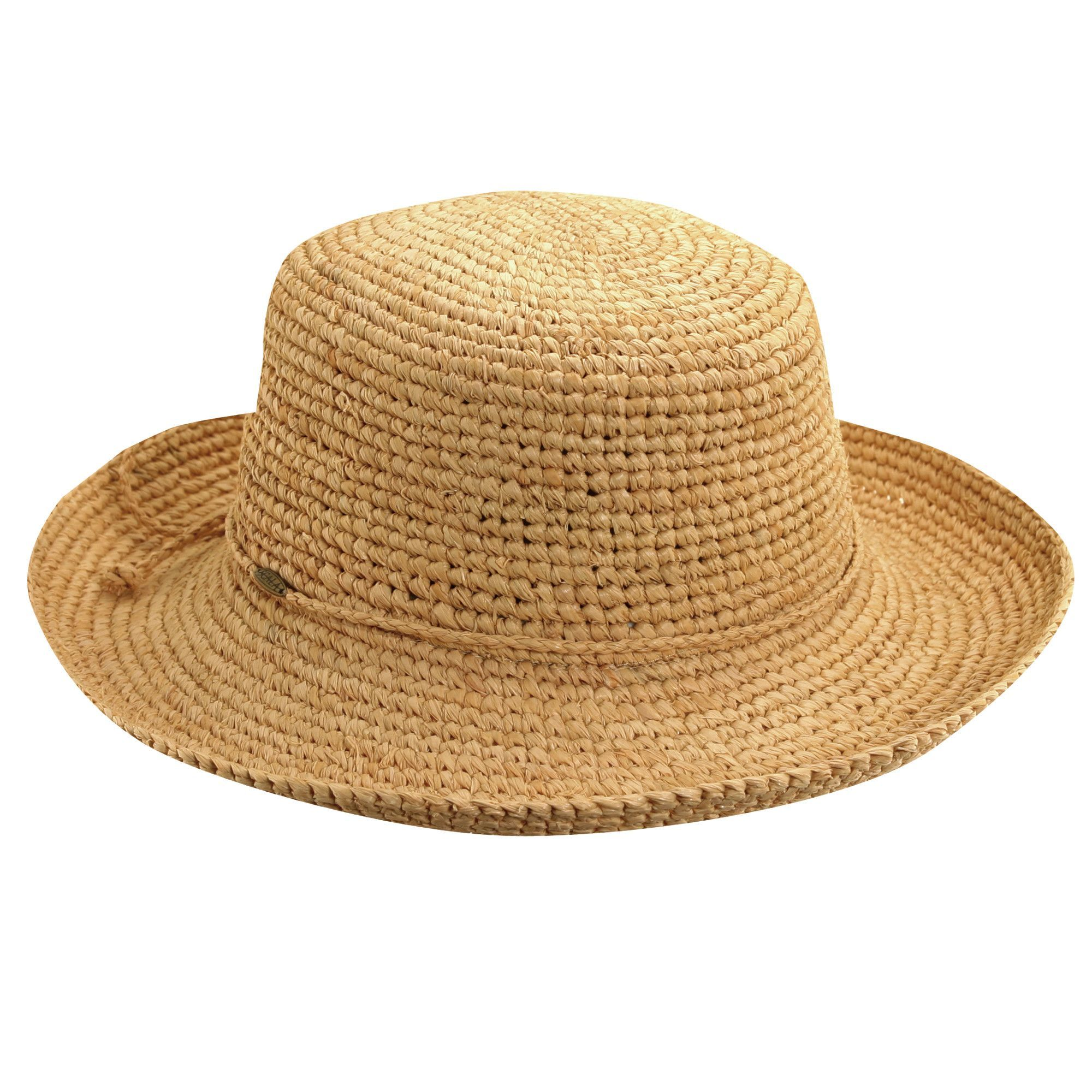 5ef718f39ae037 Scala Crocheted Raffia Kettle Brim - Petite | Ladies Summer Hats ...