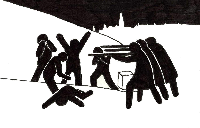 Los Fusilamientos Del 2 De Mayo Goya Pictogram Stick Figures