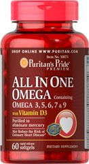 All In One Omega 3 5 6 7 9 With Vitamin D3 60 Softgels 12 49