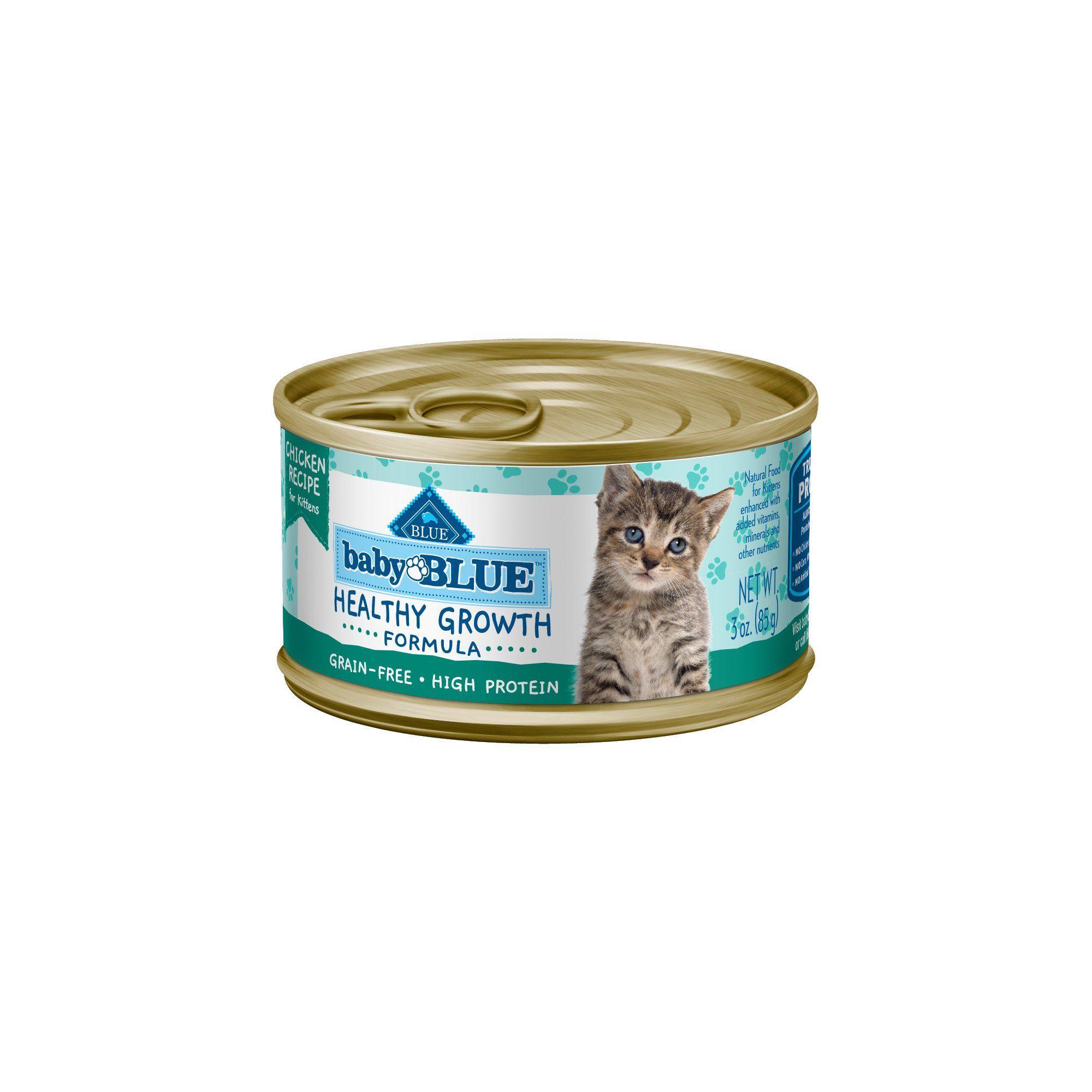 Blue Buffalo Baby Blue Healthy Growth Formula Natural Grain Free Chicken Recipe Kitten Pate Wet Food 3 Oz Case Of 24 24 X 3 Oz In 2020 Grain Free Salmon Recipes Baby Buffalo