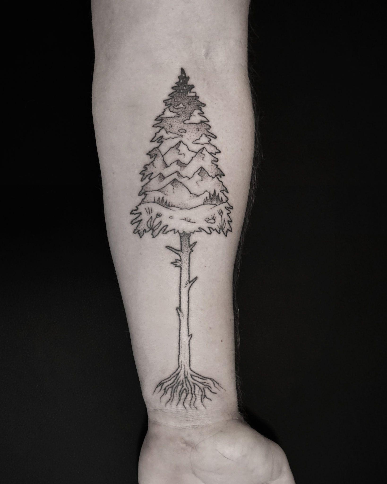 Evan lorenzen all sacred tattoo blackwork geometric