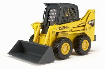 1/25 Gehl 5640E Turbo Skid Loader, Die-Cast Promotions by Die Cast Productions. $26.80. Gehl 5640E Turbo Skid Loader, mfd by Die-Cast Promotions in 2008This 1:25 scale Gehl 5640E Skid Loader features all the exciting detail of the original. Made of precision-crafted die-cast metal, features include free-rolling wheels and a fully-postionable arm and bucket. Cab detail includes seat, restraint bar and joystick controls.