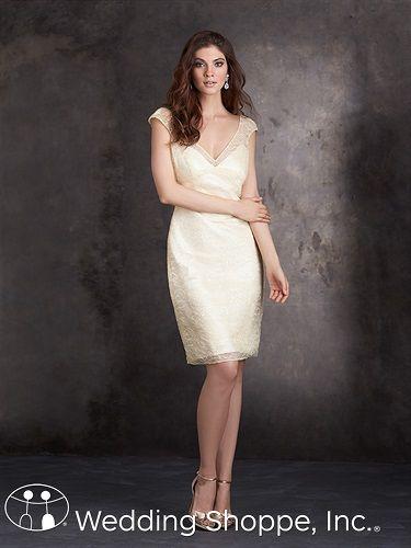 A classic, yet stylish lace dress. Allure Bridesmaid Dress 1408