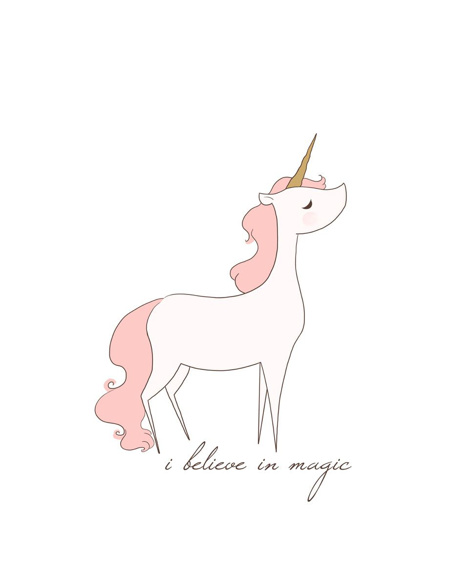 Unicorn - I Believe in Magic Print from Little Moon Dance