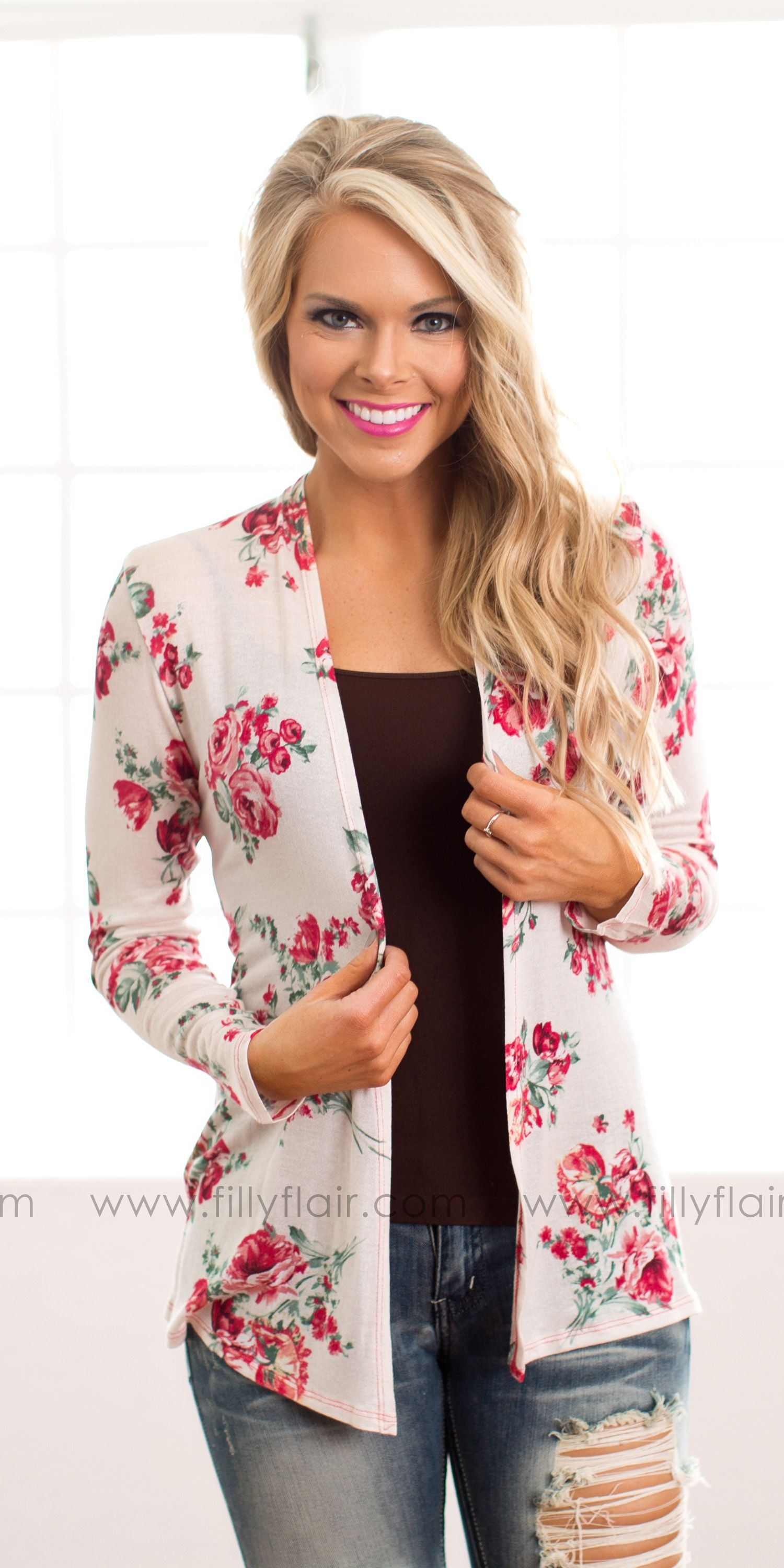A gorgeous floral cardigan for Spring! | Shop Filly Flair 2016 ...